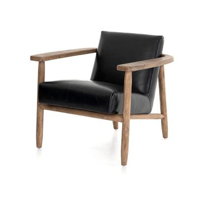 Four Hands Arnett Chair - Dakota Black - Distressed Natural