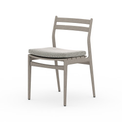 Four Hands Atherton Outdoor Dining Chair - Faye Ash - Weathered Grey