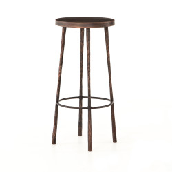 Four Hands Westwood Bar Stool - Hammered Antique Copper - Antique Copper