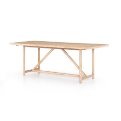Four Hands Mika Dining Table - Whitewashed Oak - Whitewashed Oak