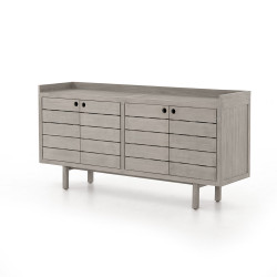 Four Hands Lula Outdoor Sideboard - Weathered Grey
