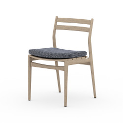 Four Hands Atherton Outdoor Dining Chair - Faye Navy - Washed Brown