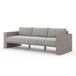 Four Hands Leroy Outdoor Sofa, Weathered Grey - Faye Ash - Weathered Grey