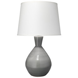Jamie Young Ash Table Lamp - Grey Crackle Glaze Ceramic