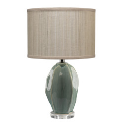 Jamie Young Hermosa Table Lamp - Teal Crackle Glaze