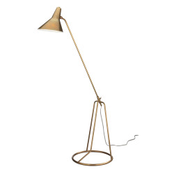 Jamie Young Franco Tri-Pod Floor Lamp - Antique Brass Metal