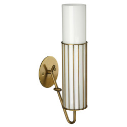 Jamie Young Torino Wall Sconce - Antique Brass & Opaque White Milk Glass