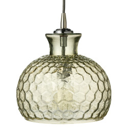 Jamie Young Clark Pendant - Taupe Glass