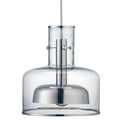 Jamie Young Clyde Pendant - Clear Glass w/ Nickel Hardware