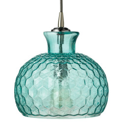 Jamie Young Clark Pendant - Aqua Glass