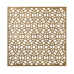 Jamie Young Geo Wall Art - Medium - Antique Brass Metal