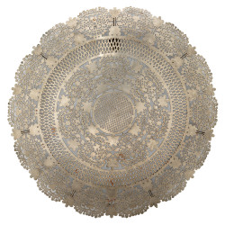 Jamie Young Penelope Lace Wall Art Medallion - Antique Silver Metal