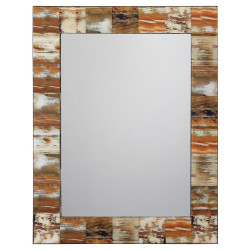 Jamie Young Natural Faux Horn Rectangular Mirror - Medium