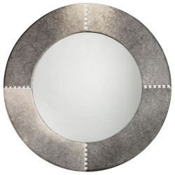 Jamie Young Round Cross Stitch Mirror