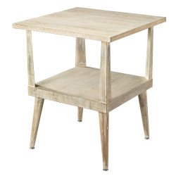 Jamie Young Arlo Side Table - Grey Washed Wood