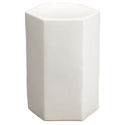 Jamie Young Porto Side Table - Small - White Ceramic