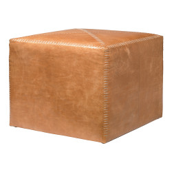 Jamie Young Ottoman - Large - Buff Leather
