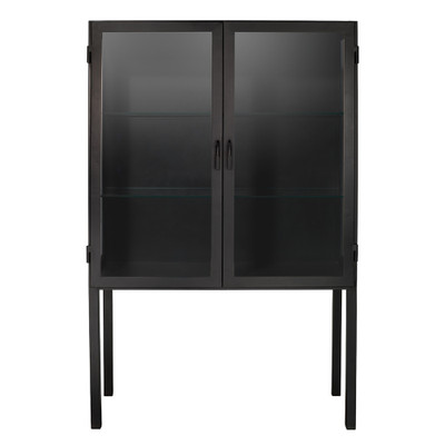 Jamie Young Chauncey Wide Curio Bar Cabinet