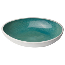 Jamie Young Mykonos High Rim Bowl - Large - Ocean Ombre Reactive Glaze Ceramic