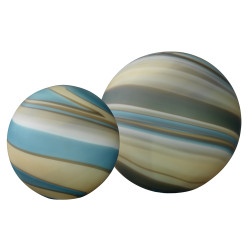 Jamie Young Cosmos Glass Bal- Set of 2 - Terrene Glass