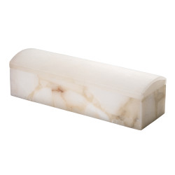Jamie Young Chester Box - White Alabaster
