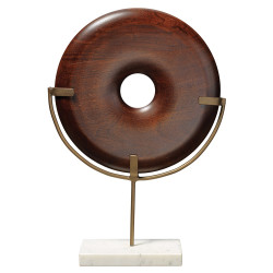 Jamie Young Archie Round Wood Object