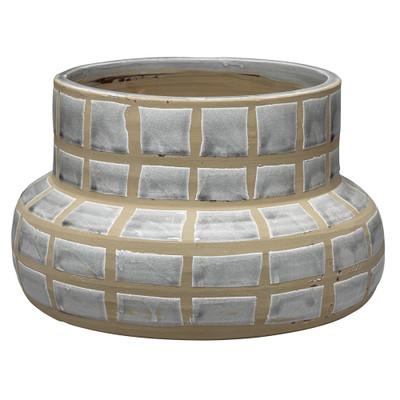 Jamie Young Grid Ceramic Vase