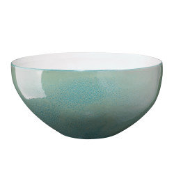 Jamie Young Tripoli Tall Rim Bowl - Ocean Ombre Reactive Glaze Ceramic