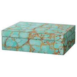 Jamie Young Turquoise Pebble Rectangle Box