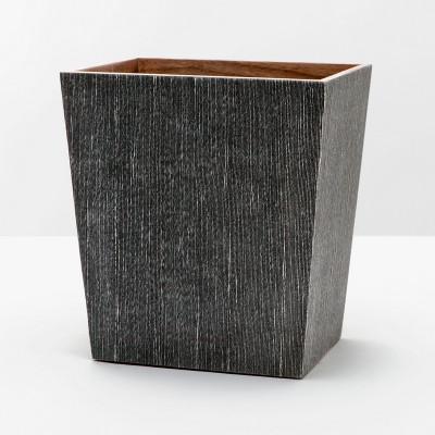 Pigeon & Poodle Bruges Waste Basket Rectangular/ Tapered - Charcoal - Rectangular