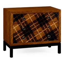 Jonathan Charles Alexander Julian Hand Inlaid Tartan Low Chest