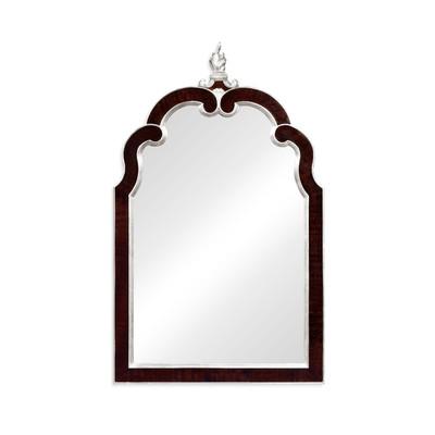 Jonathan Charles Belgravia Black Eucalyptus And Silver Hanging Mirror