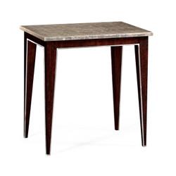 Jonathan Charles Belgravia Black Eucalyptus Rectangular End Table