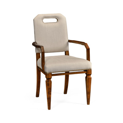 Jonathan Charles Camden Contemporary Camden Dining Armchair, Upholstered In Mazo