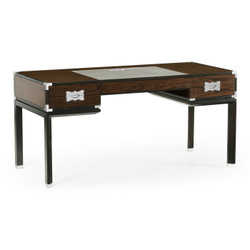 Jonathan Charles Campaign Campaign Style Dark Santos Rosewood Desk