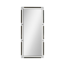 Jonathan Charles Campaign Campaign Style Charcoal Floor Standing Mirror