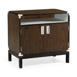 Jonathan Charles Campaign Campaign Style Dark Santos Rosewood Bedside Cabinet