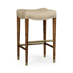 Jonathan Charles Cosmo Cosmo Bar Stool, Upholstered In Mazo
