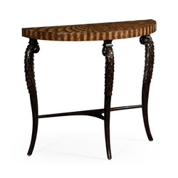 Jonathan Charles Icarus Feather Inlay Hand Carved Console