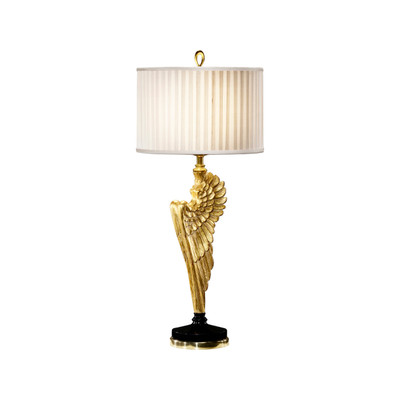 Jonathan Charles Icarus Angel Wing Gilded Table Lamp
