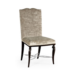 Jonathan Charles Icarus Icarus Dining Side Chair, Upholstered In Calico Velvet