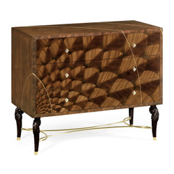 Jonathan Charles Icarus Feather Inlay Chest Of Drawers