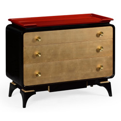 Jonathan Charles Indochine Emperor Red Chest Of Drawers