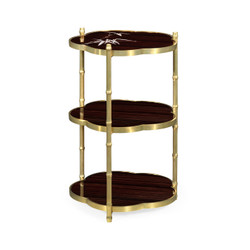 Jonathan Charles Indochine Bamboo Three-Tier End Table