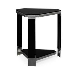 Jonathan Charles Indochine Triangular Black Gloss Side Table