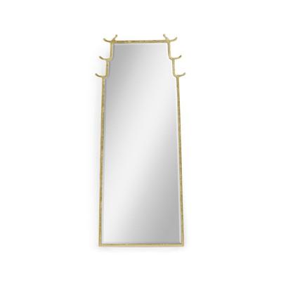 Jonathan Charles Indochine Asian Fusion Dorado Bronze Floor Standing Mirror