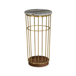 Jonathan Charles Langkawi Brass & Marble Round Side Table