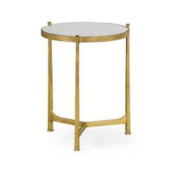 Jonathan Charles Luxe Églomisé & Gilded Iron Medium Lamp Table