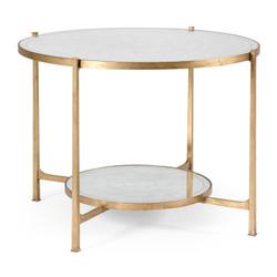 Jonathan Charles Luxe Églomisé & Gilt Iron Centre Table