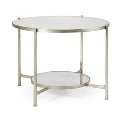 Jonathan Charles Luxe Églomisé & Silver Iron Centre Table